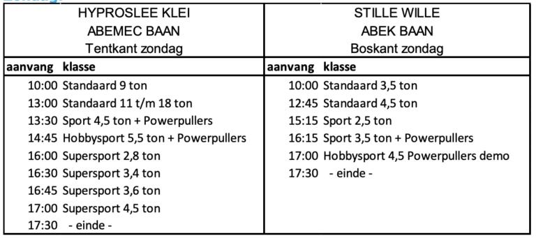 Programma zondag 2019